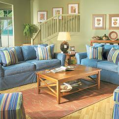 Denim Living Room Furniture Ideas With Tv And Fireplace Cool On Style Of Coastal Into Your Home The Beachside