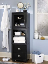 BATHROOM BLACK CABINET | BATHROOM CABINETS