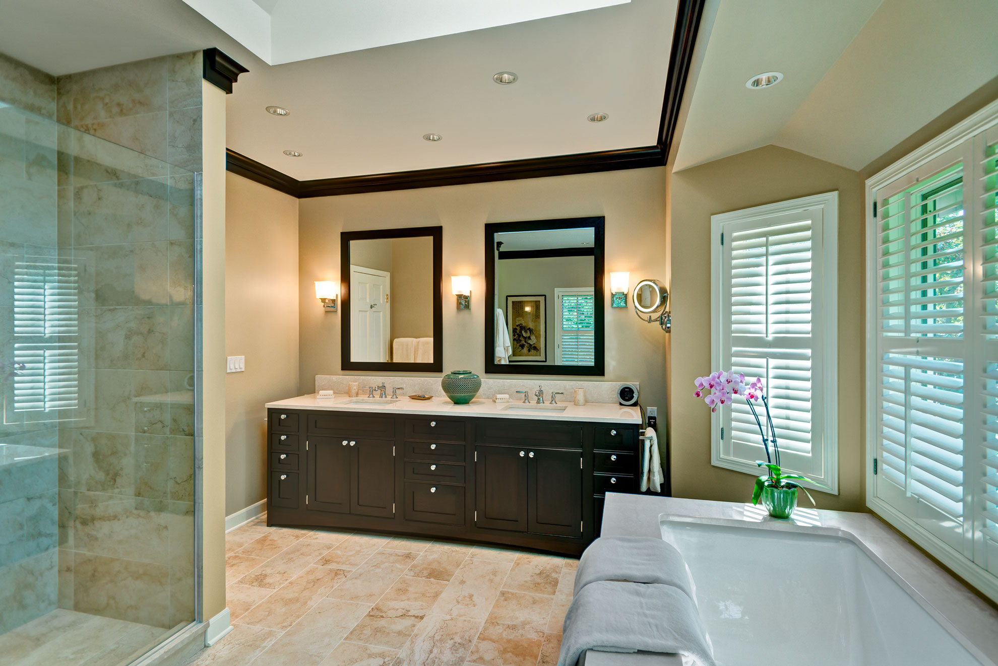 Transitional Spa Bathroom Barrington IL  Better Kitchens