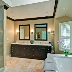 Wood Mode Kitchen Cabinets Dish Towels Transitional Spa Bathroom, Barrington Il - Better Kitchens