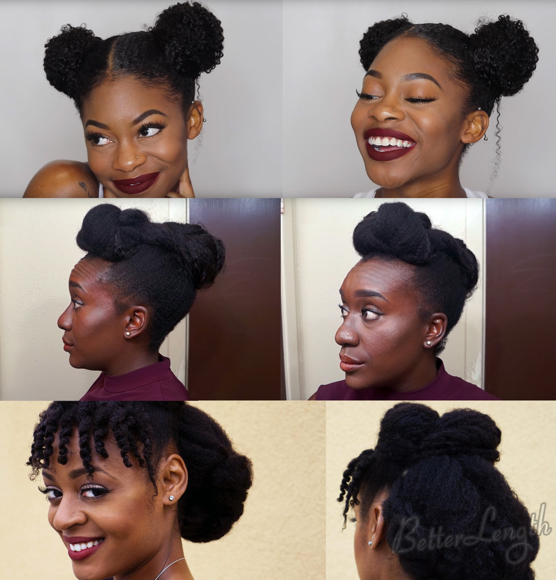TOP 6 Quick & Easy Natural Hair Updos