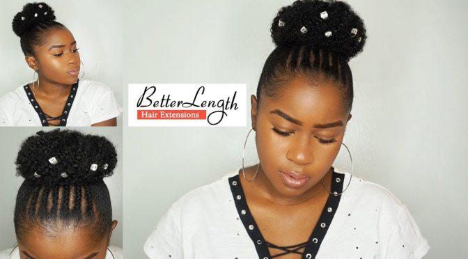 Beginner Friendly Braid And Bun Using Clip Ins On Short Natural