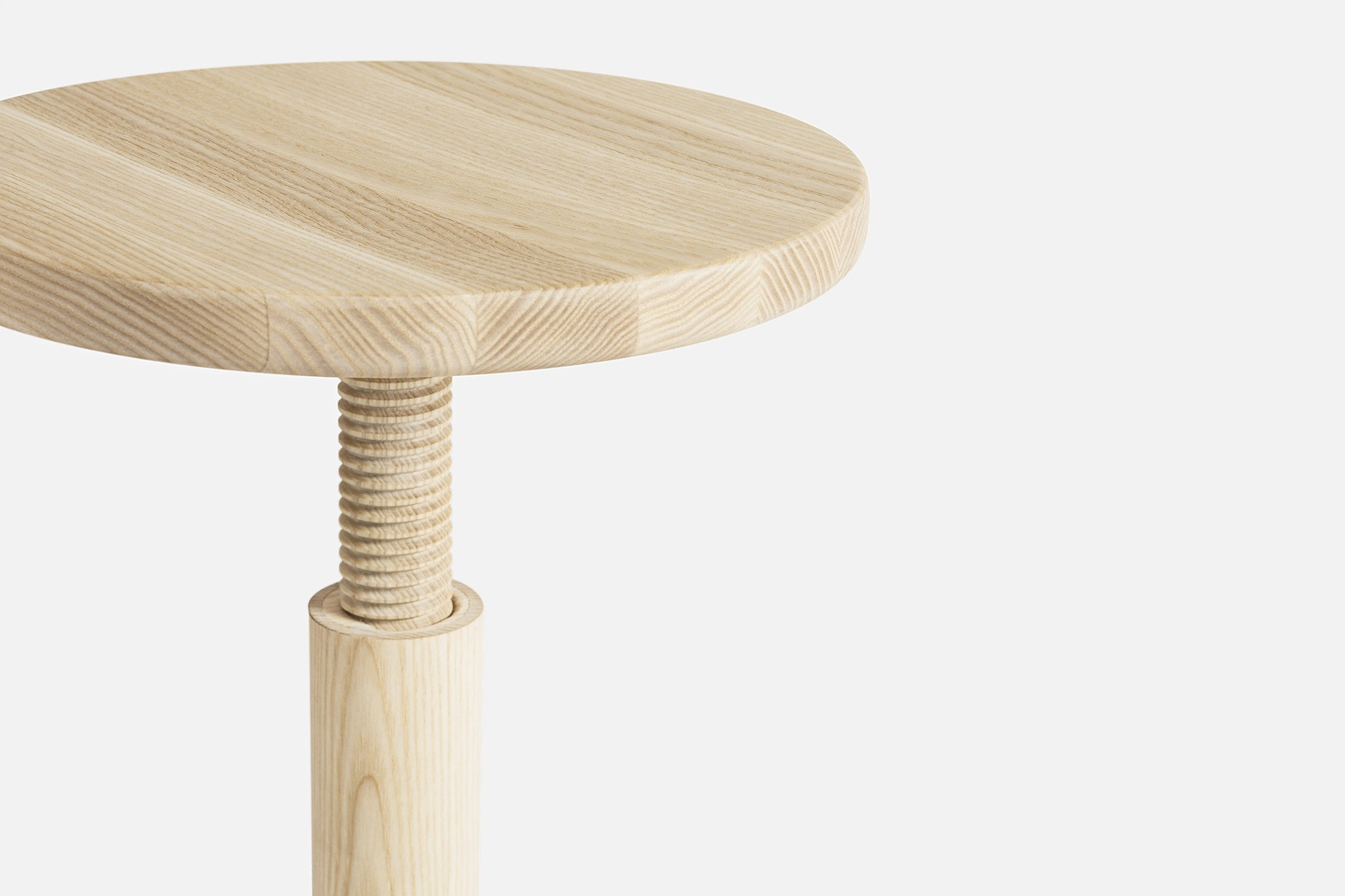 All Wood Stool by Karoline Fesser