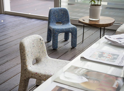 Chair Charlie recycled plastic