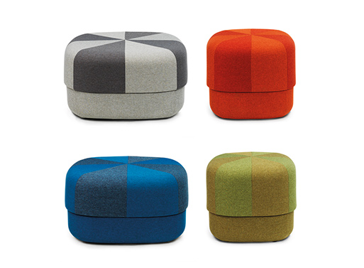 Circus Pouf by Normann Copenhagen, colors