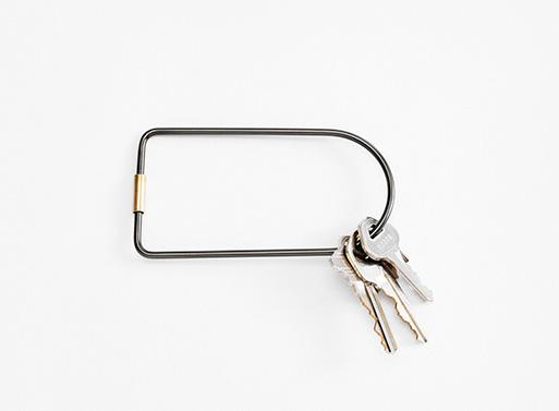 Contour Key Rings, Black