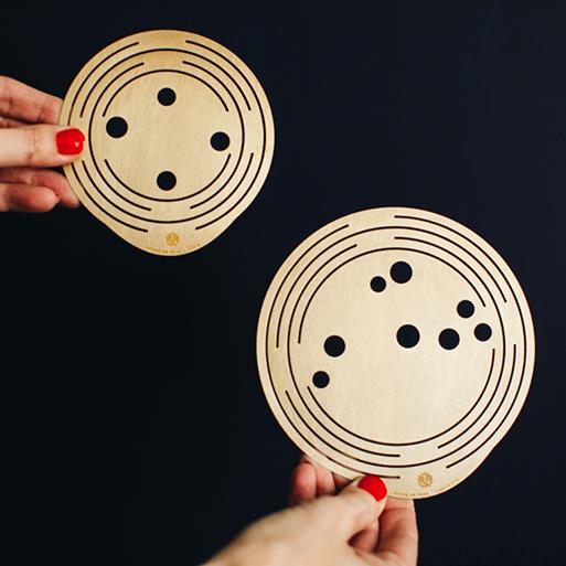 Flower Constellations brass disks