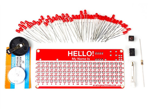 HELLO My Name Is LED Nametag Kit