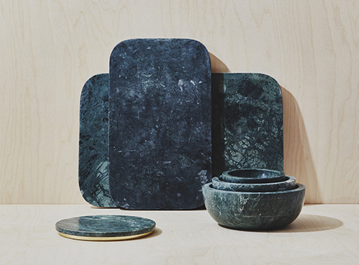 Mara Marble Serving Collection Green