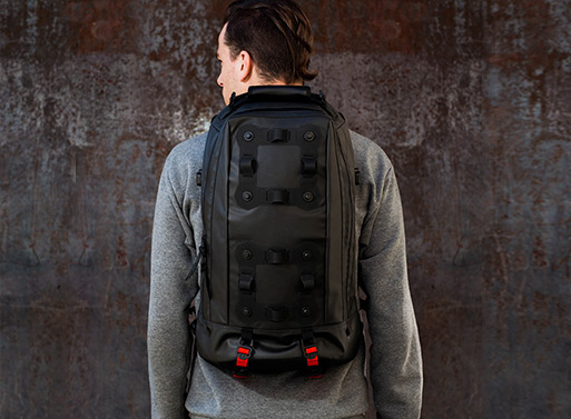 Black Ember Modular Urban Backpacks Neoruk