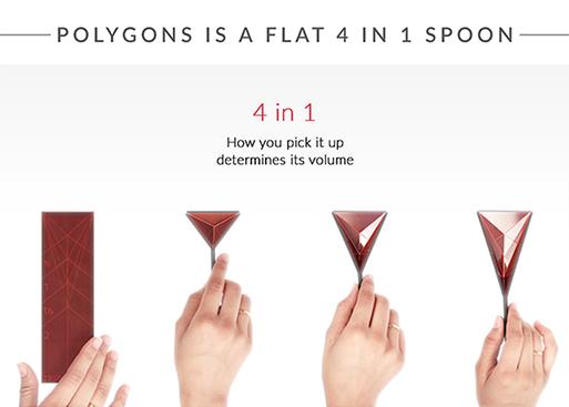 Polygons Flat 4-in-1 Measuring Spoon