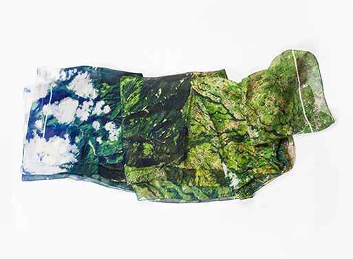 Turrialba Volcano Silk Scarf