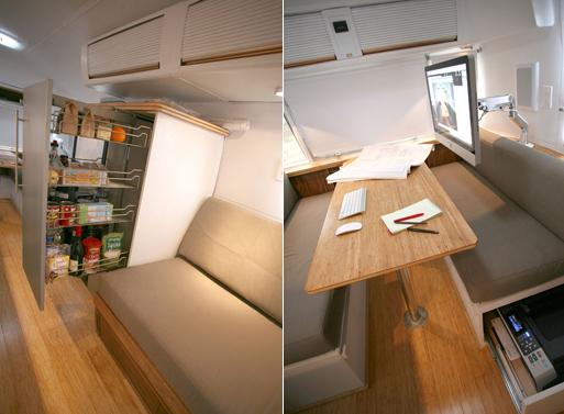 HofArc Airstream Renovation pantry office
