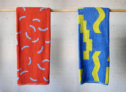 Curves Beach Towel and Slash Beach Towel