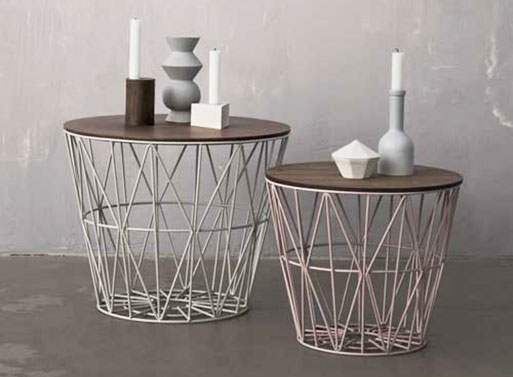 Wire Basket Table Furnishings Better Living Through