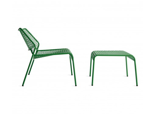 Hot Mesh Lounge Chair and Ottoman