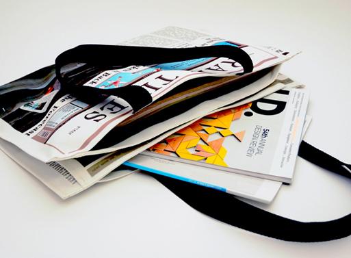 Newspaper for Rain Bag 3