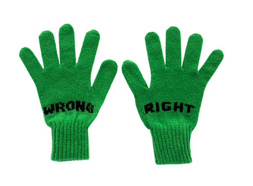 Right Wrong Gloves green