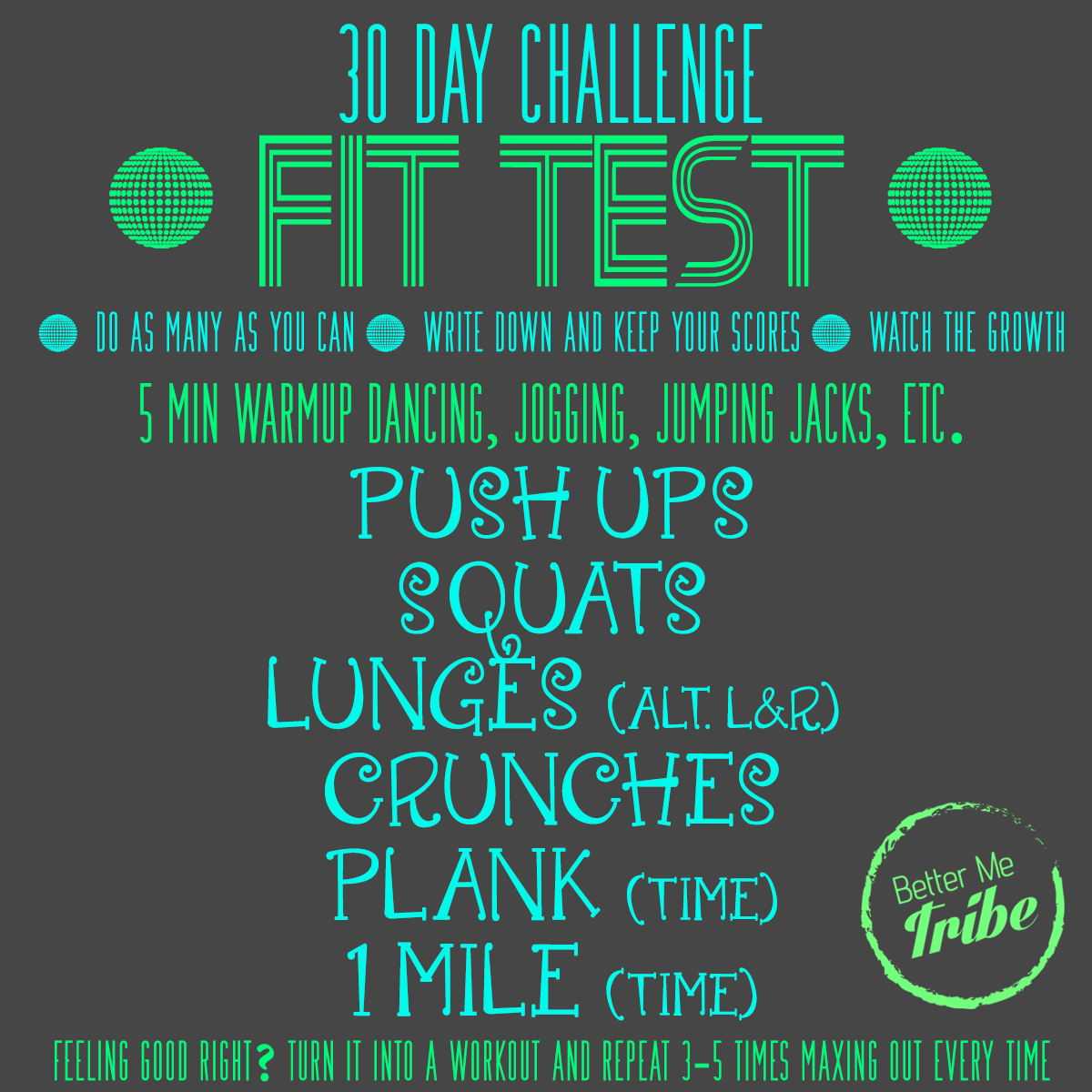 FIT TEST FRIDAY- Week 3
