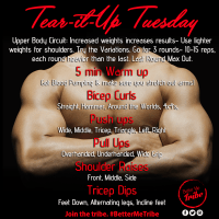 Tear it up Tuesday- Week 2!