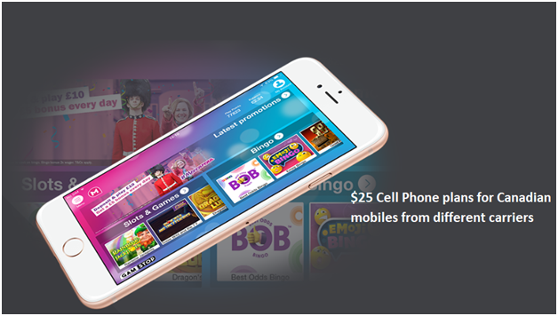 $25 Cell Phone plans for Canadian mobiles from different carriers