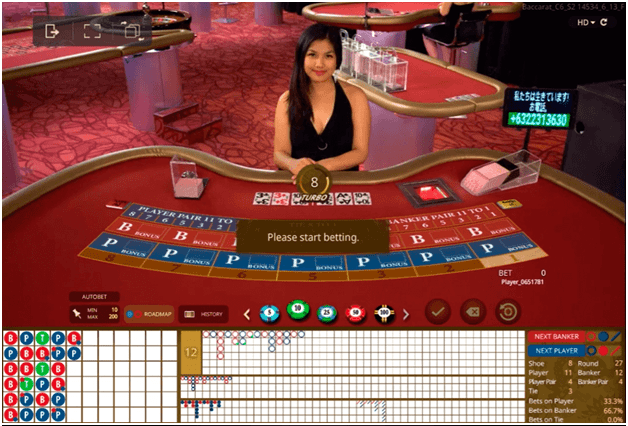 The game of online Baccarat