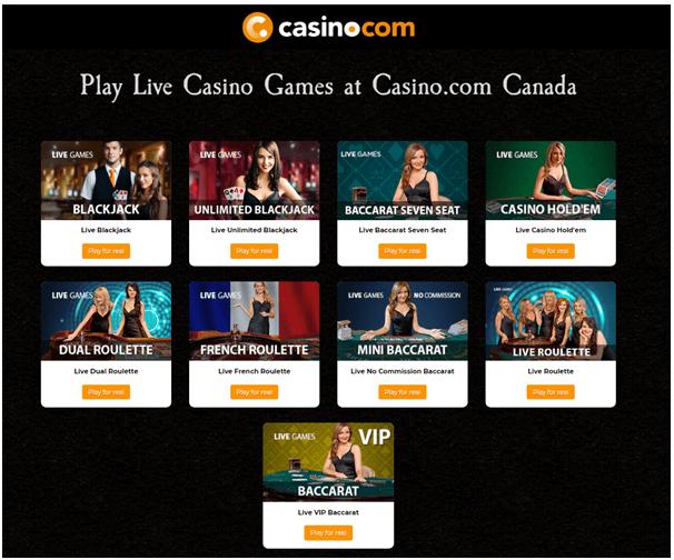 Casino .com Live casino