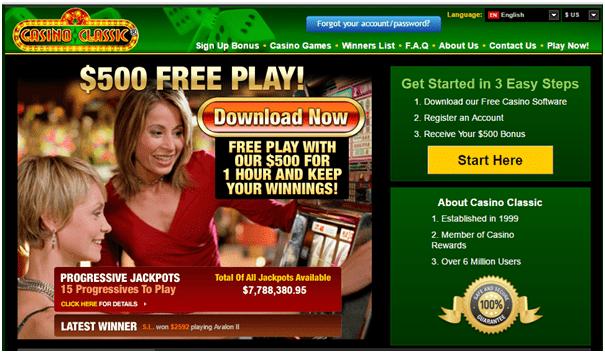 Casino Classic Home Page