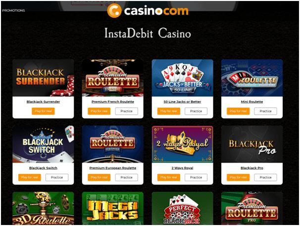 Instadebit Canada Casino online