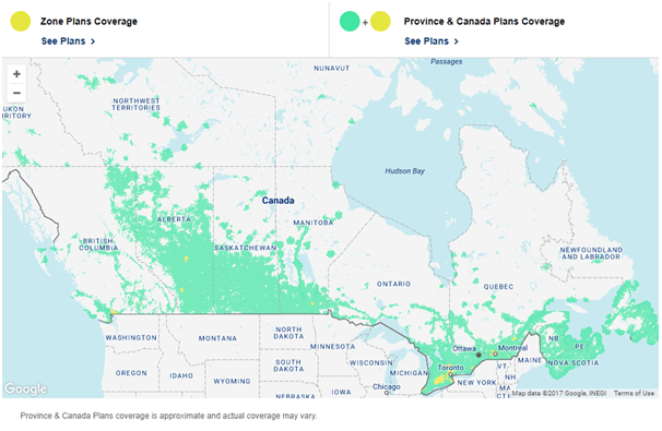 Lucky Mobile Coverage in Canada
