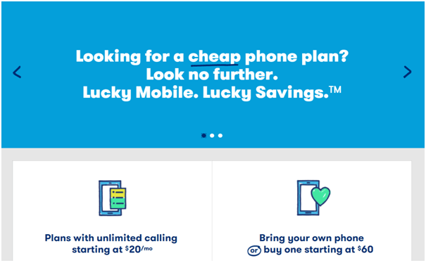 Lucky Mobile from Bell is low cost pre paid wireless brand