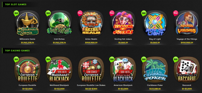 Mobile Games at 888casino