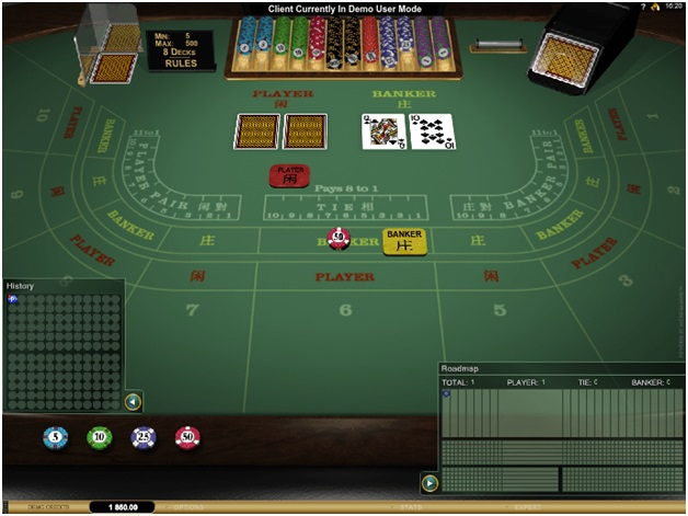 Platinum Play mobile casino Canada- Table Games- Baccarat Gold