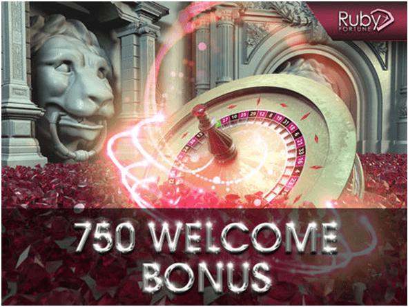 Ruby Fortune welcome bonus