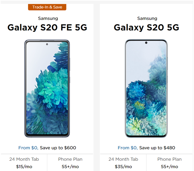 Samsung Freedom mobile plans