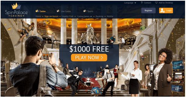 Spin Palace casino mobile bonus