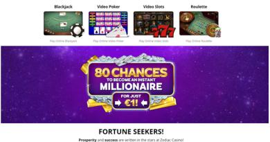 Zodiac casino Canada