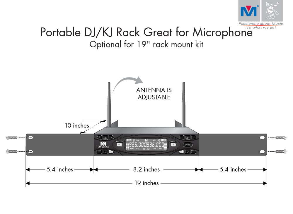 VM-93C G5 Pro UHF Rechargeable Wireless Microphone System