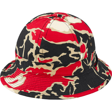 Tiger Camo Bell Hat (Red Tiger Camo)