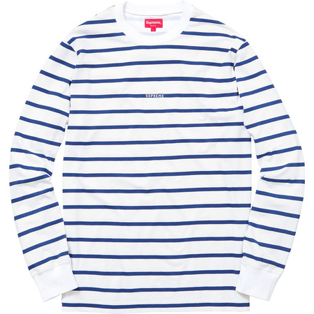 Printed Stripe L/S Top (White)