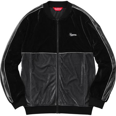 2-Tone Velour Zip Up Sweat (Black)