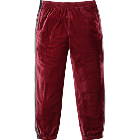 2-Tone Velour Pant (Light Burgundy)