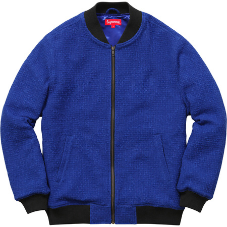 Bouclé Varsity Jacket (Royal)
