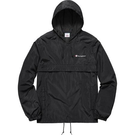 Supreme®/Champion® Half Zip Windbreaker (Black)