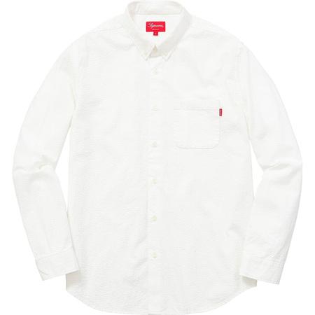 Tonal Seersucker Shirt (White)