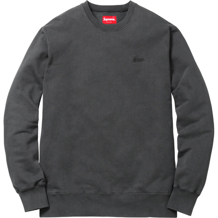 Embroidered Overdyed Crewneck (Black)
