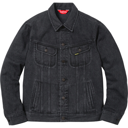 Denim Trucker Jacket (Washed Black)