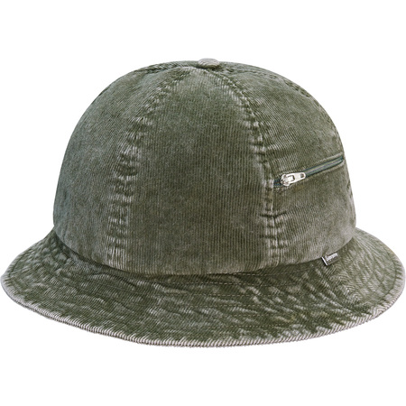 Cord Zip Bell Hat (Olive)