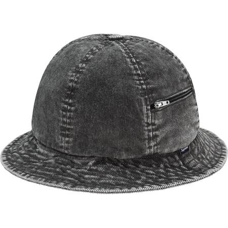 Cord Zip Bell Hat (Black)