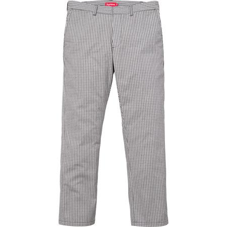 Mini Check Work Pant (Black)